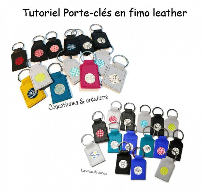 TUTORIEL PORTE CLÉ GRATUIT FIMO LEATHER