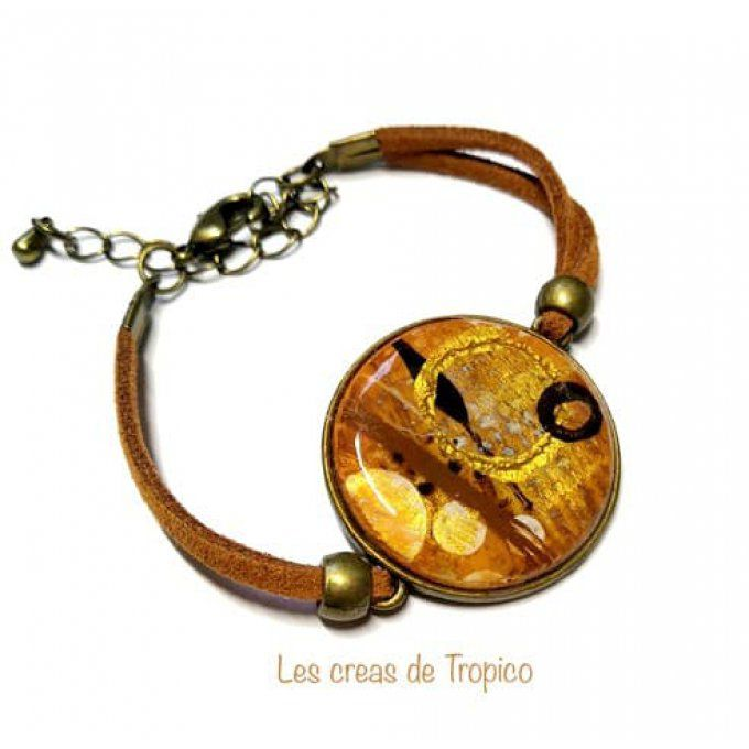 BRACELET ABSTRAIT MARRON