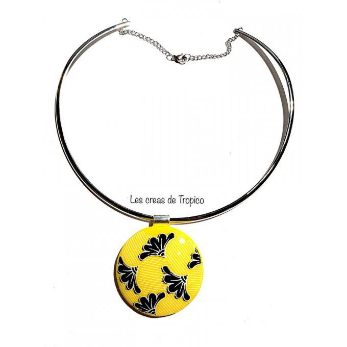 COLLIER WAX JAUNE MOUTARDE