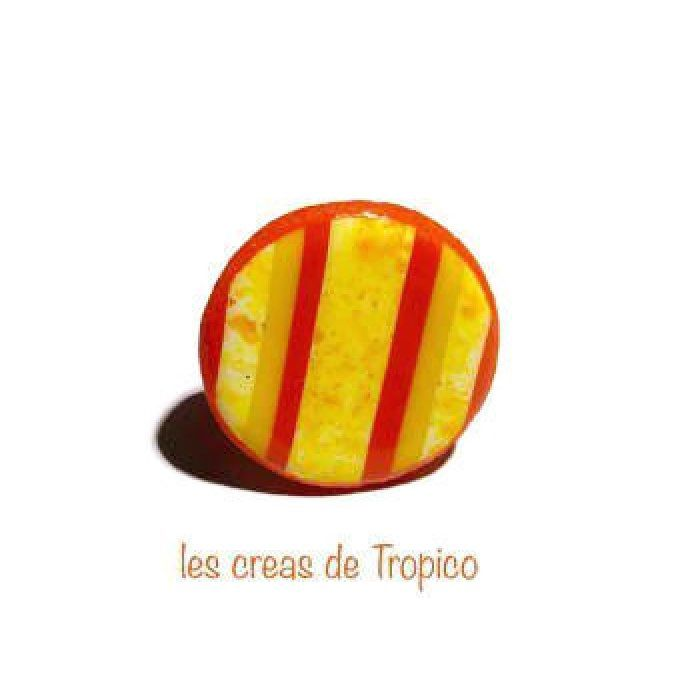 BAGUE JAUNE ORANGE